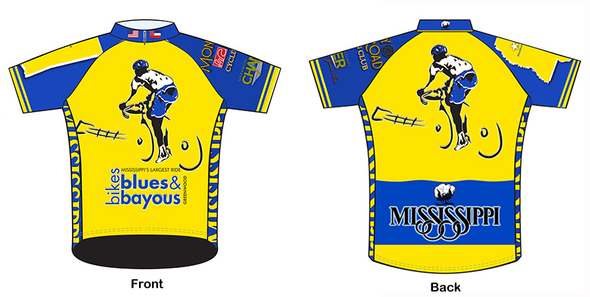 Bikes Blues And Bayous BBB Cycling Jersey