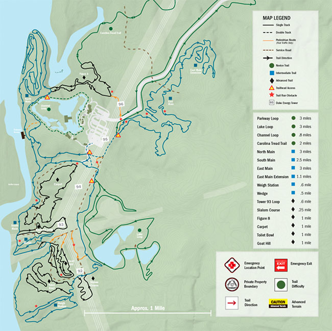 USNWC Trail Map